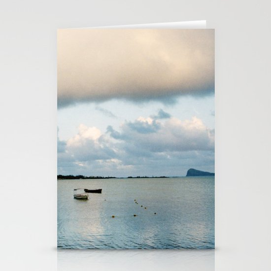 Blue Sunrise Stationery Card