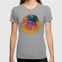 HEAD OVER HEELS Womens Fitted Tee Tri-Grey SMALL