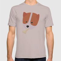 Corgi To Benny Mens Fitted Tee Cinder SMALL