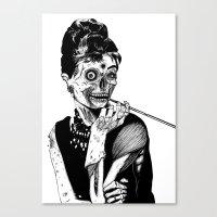 Zombie At Tiffany's Canvas Print