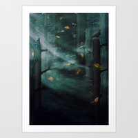 In The Woods Tonight Art Print