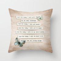 Reiki Principles No.2 Throw Pillow