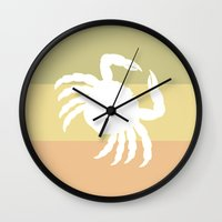 Out At Sea Series - Sideways and Crabby Wall Clock