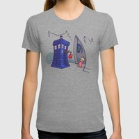 Cindy Lou WHO Womens Fitted Tee Tri-Grey SMALL