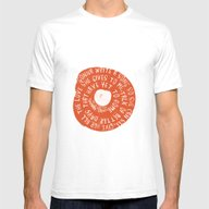 Songbird Mens Fitted Tee White SMALL