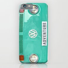 Adventure wolkswagen. Summer dreams. Green iPhone 6 Slim Case