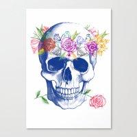 Halloween Skull Canvas Print