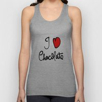 i love chocolate Unisex Tank Top