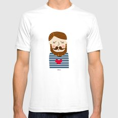 Bearded Sailor Lover Mens Fitted Tee White SMALL