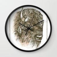 Portrait Of A Buffalo Wall Clock