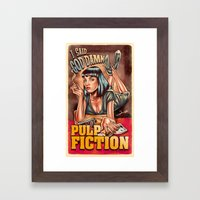 Mia Wallace - Pulp Ficti… Framed Art Print