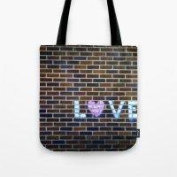 Love On the Bricks 2 Tote Bag