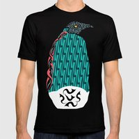 Abstract Penguin Mens Fitted Tee Black SMALL