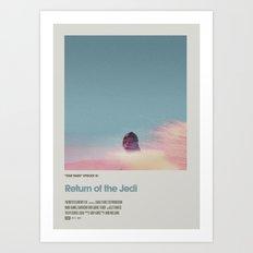 Retro Cinema Poster:Re… Art Print