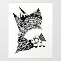 Sea Shell Creature Art Print