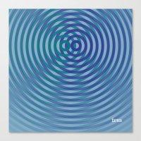 SoundWaves Teal/Indigo Canvas Print