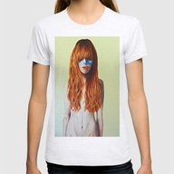 Redhead & Blue Mask Womens Fitted Tee Ash Grey SMALL