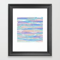 Tropical Blue Framed Art Print