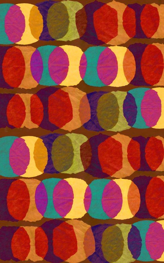 Collage and digital circle pattern Art Print