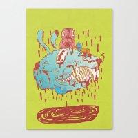 thump, thump! Canvas Print