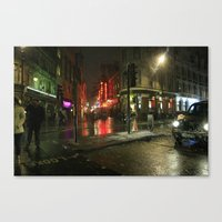 Snowing In London Canvas Print