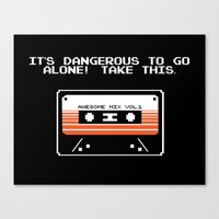 TAKE THIS TAPE (Zelda & … Canvas Print