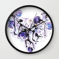 Watercolor Necklace Wall Clock