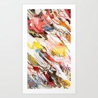 comic letter 2 Art Print