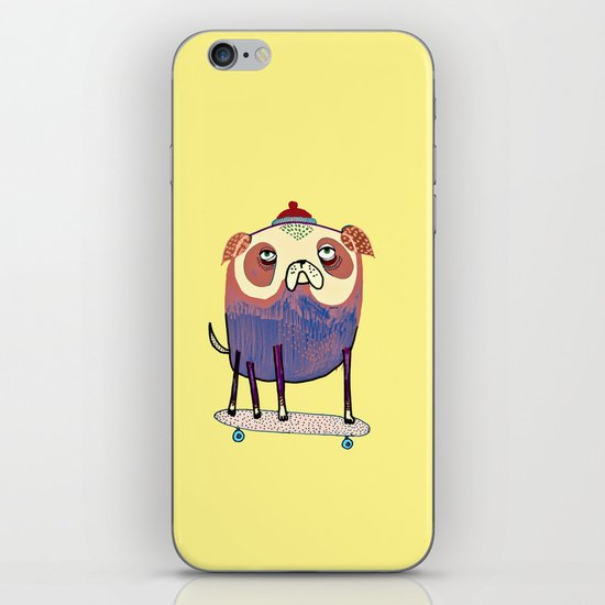 Pug Dude. iPhone & iPod Skin