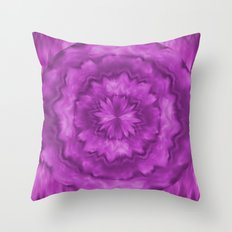 Radiant Orchid Tie Dye Flower Throw Pillow