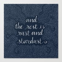 Rust and Stardust Canvas Print
