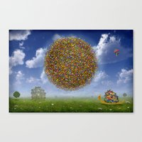 Flowerworld ! Canvas Print