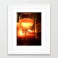 Light Wine Framed Art Print