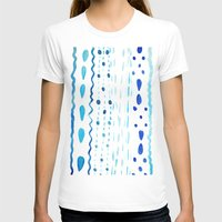 Dot Dash Dot Womens Fitted Tee White SMALL