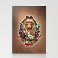 Follow The White Rabbit. Stationery Cards