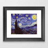 Vincent Van Gogh Starry … Framed Art Print