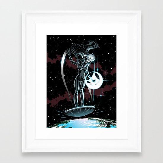 Lady Surfer Framed Art Print