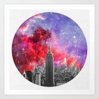 NEBULA NEW YORK Art Print