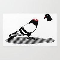 Pigeon and head Rug