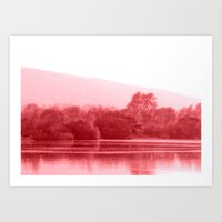 Raspberry Riverbank Art Print