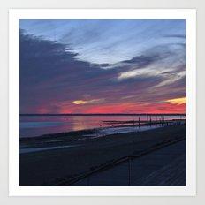 Magic Summer Sunset on the West Coast of DENMARK Art Print
