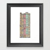 Olden Days Skyscrapers Framed Art Print