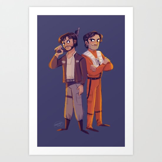 Latinos in Space! Art Print