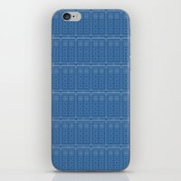 TARDIS Blueprint Pattern… iPhone & iPod Skin