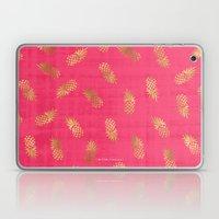 Gold Pink Paradise Pineapples Laptop & iPad Skin