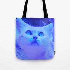 Blue kitten Tote Bag