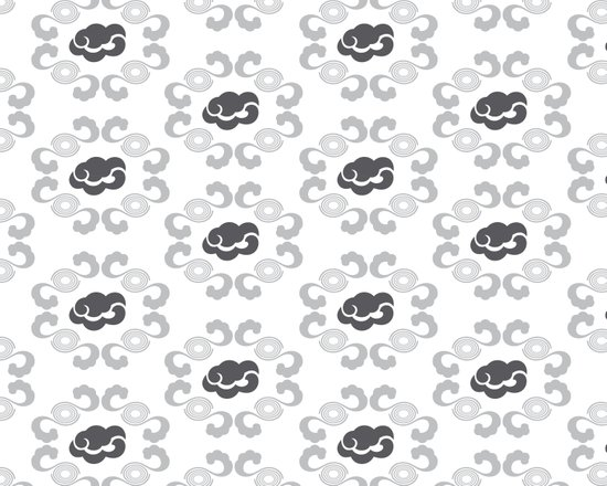 Oriental Cloudy Pattern Art Print