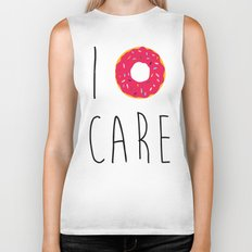 I Donut Care Funny Quote Biker Tank