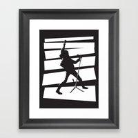 Legendary Punk Frontman Framed Art Print