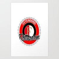 Feyenoord chain Rotterdam crest Art Print